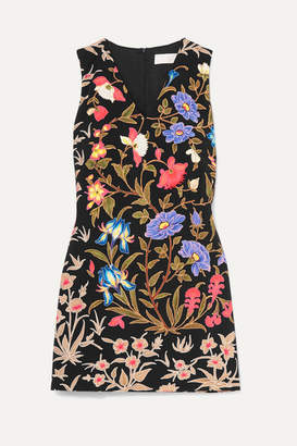 Peter Pilotto Floral-print Cady Dress - Black
