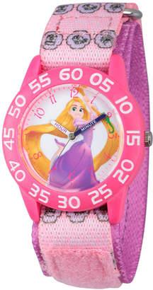 Disney Princess Girls Pink Tangled Time Teacher Strap Watch W002967