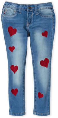 Vigoss Girls 4-6x) Heart Embroidered Skinny Jeans