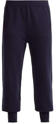 Allude Cashmere Track Pants - Womens - Navy