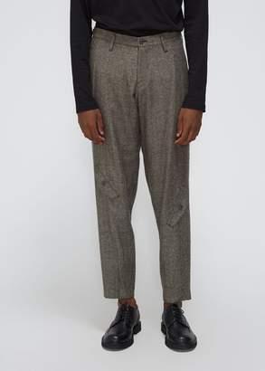 Yohji Yamamoto Herringbone Tweed Knee Pocket Trouser
