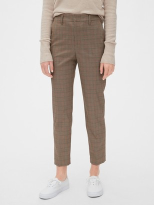 Gap High Rise Plaid Slim Taper Pants