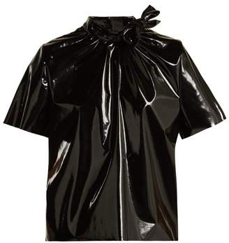 MSGM Pvc Top - Womens - Black
