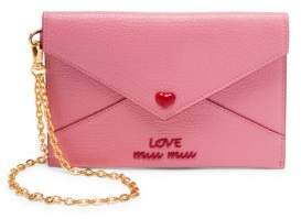 Miu Miu Mini Envelope With Heart