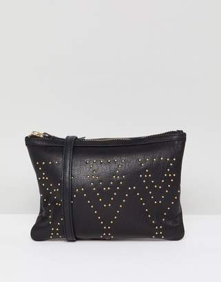 Urban Code Urbancode leather cross body bag with pin studs
