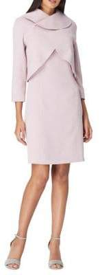 Tahari Arthur S. Levine Petite Petite Collared Crossover Bodice Dress