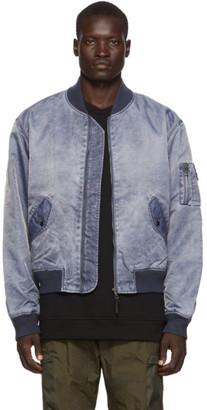 John Elliott Blue Nicasio Bogota Bomber Jacket