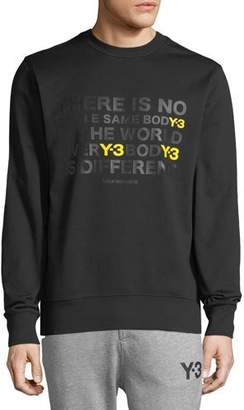 Y-3 Men's EverY-3 BodY-3 Is Different Artwork Cotton Crewneck Sweater