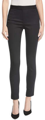 Veronica Beard Terra High-Waist Herringbone Skinny Trousers