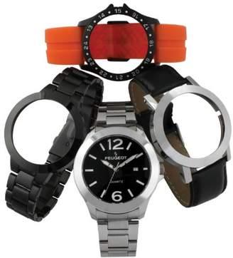Peugeot Men's 699 Watch Featuring Interchangeable Bands
