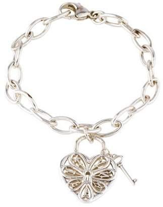 Tiffany & Co. Filigree Heart & Lock Charm Bracelet silver Filigree Heart & Lock Charm Bracelet