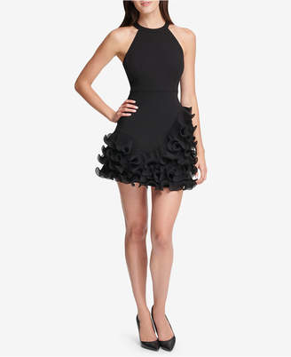 GUESS Ruffled Halter Dress