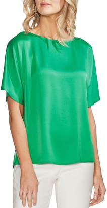 Vince Camuto Pleat Back Hammer Satin Top