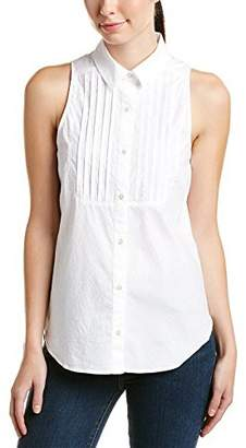 Trina Turk Women's Carlin Dobby Shirting Sleeveless Top