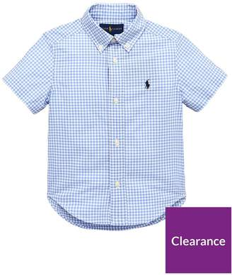 Ralph Lauren Boys Checkered Gingham Shirt - Blue
