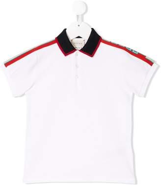 Gucci Kids logo shoulder polo shirt
