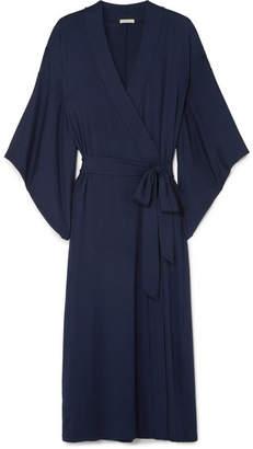 Eberjey Colette Stretch-modal Robe - Navy
