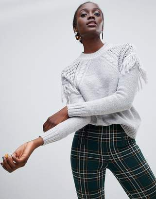 Vero Moda Tassel Front Knitted Sweater