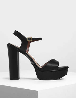 Charles & Keith Block Heel Platform Shoes