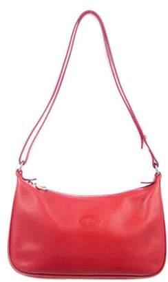 Longchamp Grained Leather Shoulder Bag gold Grained Leather Shoulder Bag