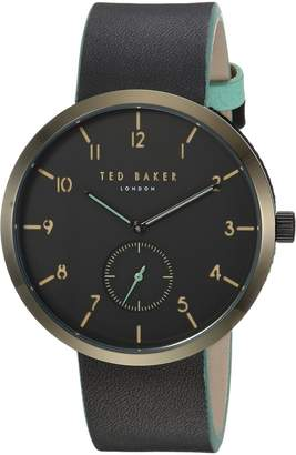 Ted Baker Men's 'JOSH' Quartz Stainless Steel and Leather Casual Watch, Color: (Model: TE50011003)