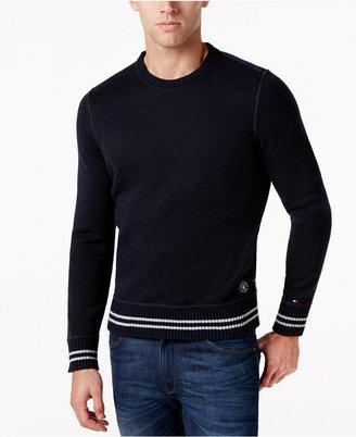 Tommy Hilfiger Men's Striped-Trim Crew-Neck Sweater $99.50 thestylecure.com