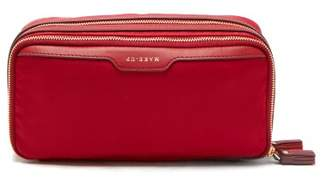 Anya Hindmarch Stack Double Nylon Make Up Bag - Womens - Red