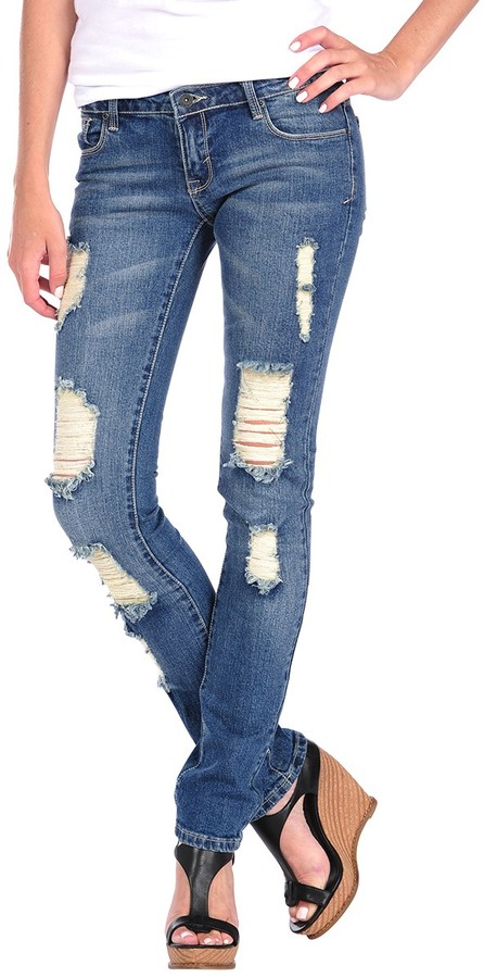 Butter Shoes Light Washed Ripped Skinny