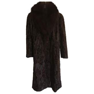 Astrakhan Non Signé / Unsigned Non Signe / Unsigned Brown Coat for Women