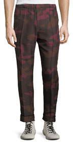 Men's Seamed Camo Silk Pants