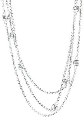 Judith Ripka Multiple chain Cz Stone necklace