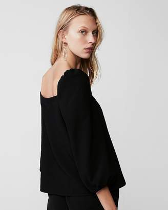 Express Square Neck Puff Sleeve Blouse