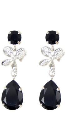 Rosaspina Firenze Orchid Earrings In Black