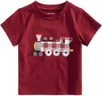 First Impressions Baby Boys Train-Print Cotton T-Shirt, Created for Macy's