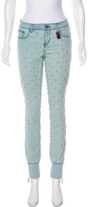 Thomas Wylde Studded Mid-Rise Jeans