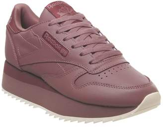 37acb2d3367 Reebok Classic Leather Bold Trainers Parched Earth Mysterious Rose Pink
