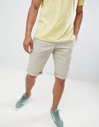 Esprit Slim Fit Chino Shorts In Beige