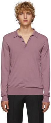 Brioni Pink Cashmere Polo