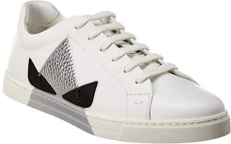 Fendi Bag Bugs Low-Top Leather Sneaker