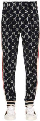 Gucci Gg Supreme Logo Cotton Jacquard Leggings