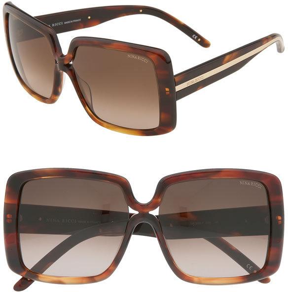 Nina Ricci 'Jackie' Vintage Inspired Oversized Sunglasses