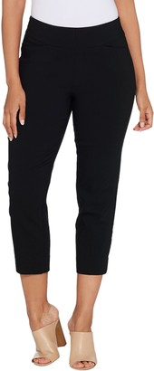 Susan Graver Petite Uptown Stretch Pull-On Crop Pants