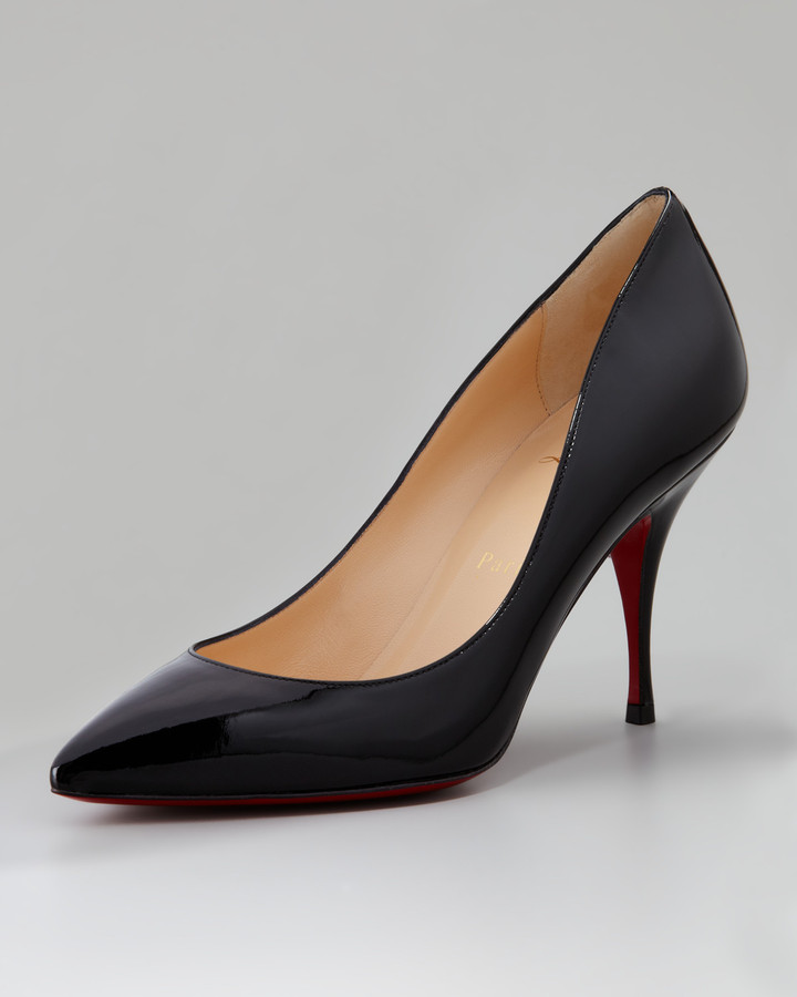Christian Louboutin Pioupiou Patent Leather Red Sole Pump, Black