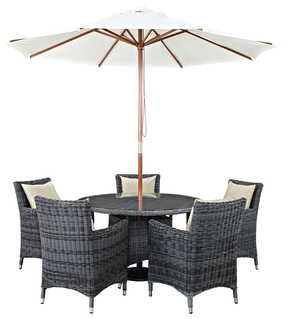 Summon Patio Sunbrella Dining Set (7 PC)