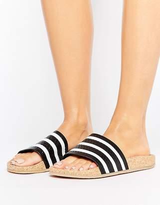 adidas Adilette Slider Sandals Wth Cork Sole