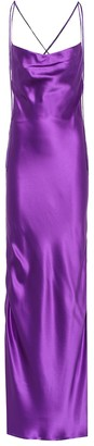 Galvan Yasmine silk-satin gown