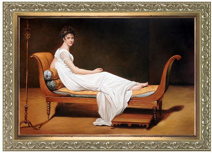 Overstock Art Portrait of Madame Recamier, c.1800 by Jacques-Louis David (Framed Canvas)