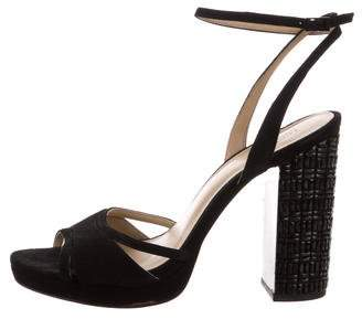 MICHAEL Michael Kors Michael Kors Suede Ankle Strap Sandals