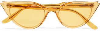 Illesteva Isabella Cat-eye Acetate Sunglasses - Yellow