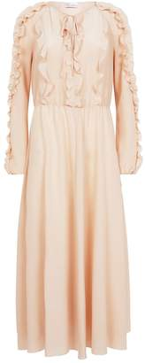 RED Valentino Ruffled Crepe Midi Dress